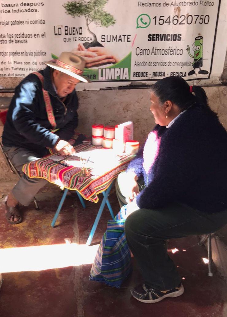 Diseur de bonne aventure - Au marché de Tilcara - Nordeste - Argentine