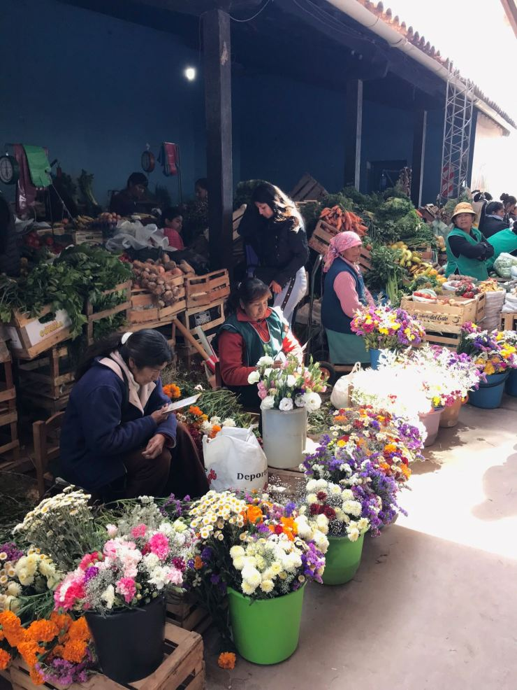 Marchandes de fleurs - Au marché de Tilcara - Nordeste - Argentine