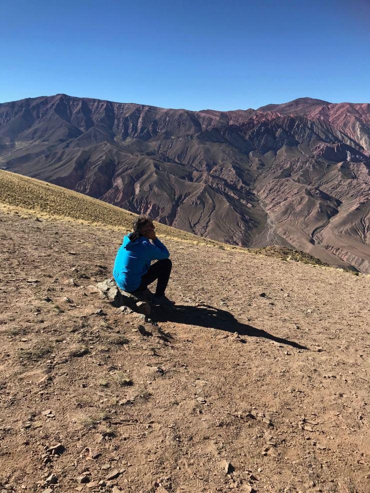 Le penseur - El Hornocal - Nordeste - Argentine