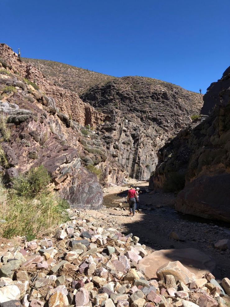 Le long de la Rivière Hasamayo au fond de la Garganta del Diablo - Tilcara - Nordeste - Argentine