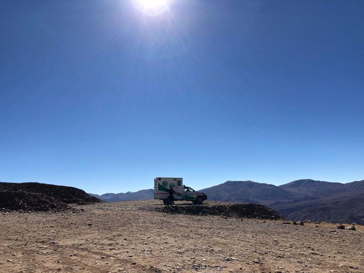 Ambulance contre le mal d'altitude - El Hornocal, 4350 mètres - Nordeste - Argentine