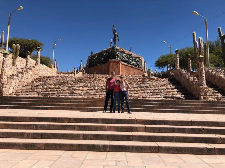 Monumental Monumento a la independencia - Humahuaca - Nordeste - Argentine