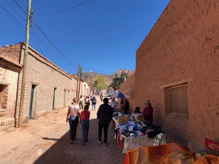Dans les rues d'Uquia - Nordeste - Argentine