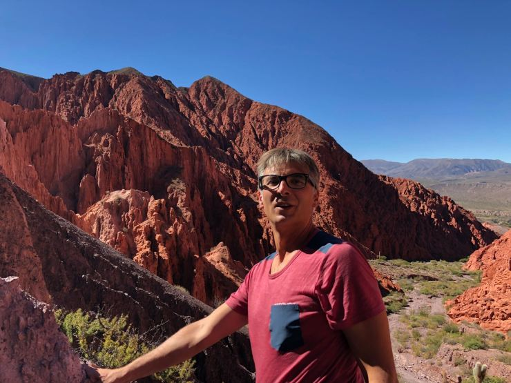 Geoffrey au sommet - Quebrada de la senoritas - Uquia - Nordeste - Argentine