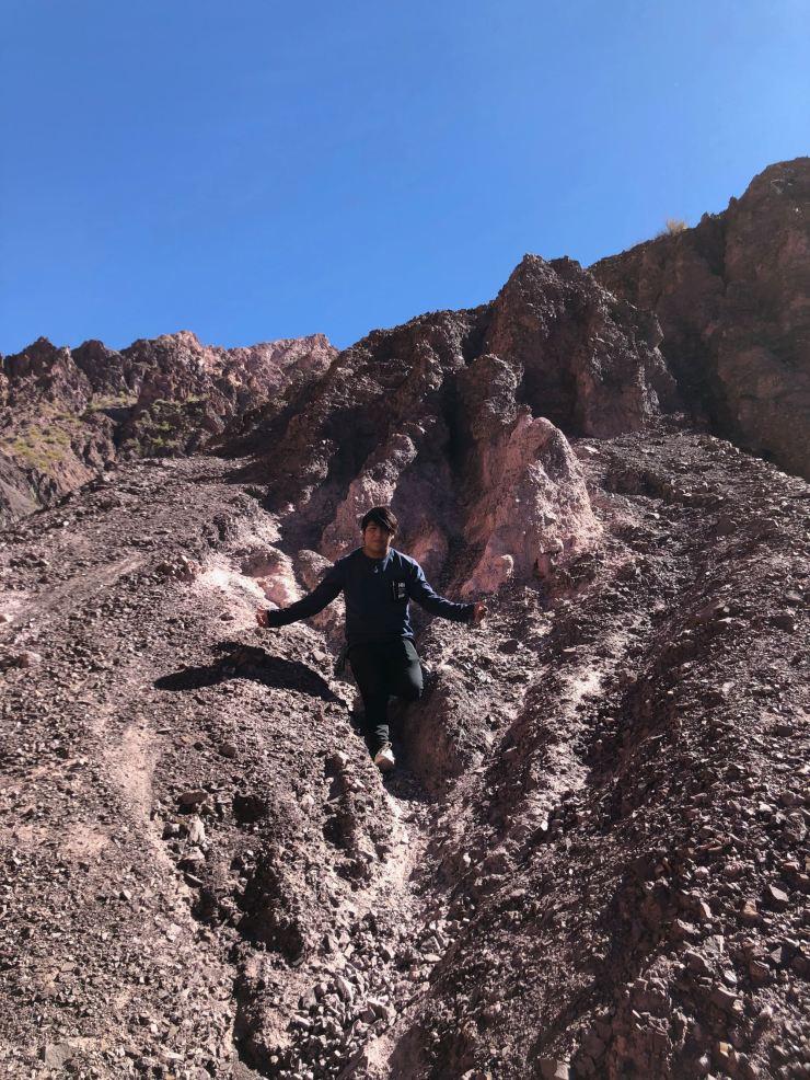 Ivan contrôle le dérapage - Quebrada de la senoritas - Uquia - Nordeste - Argentine