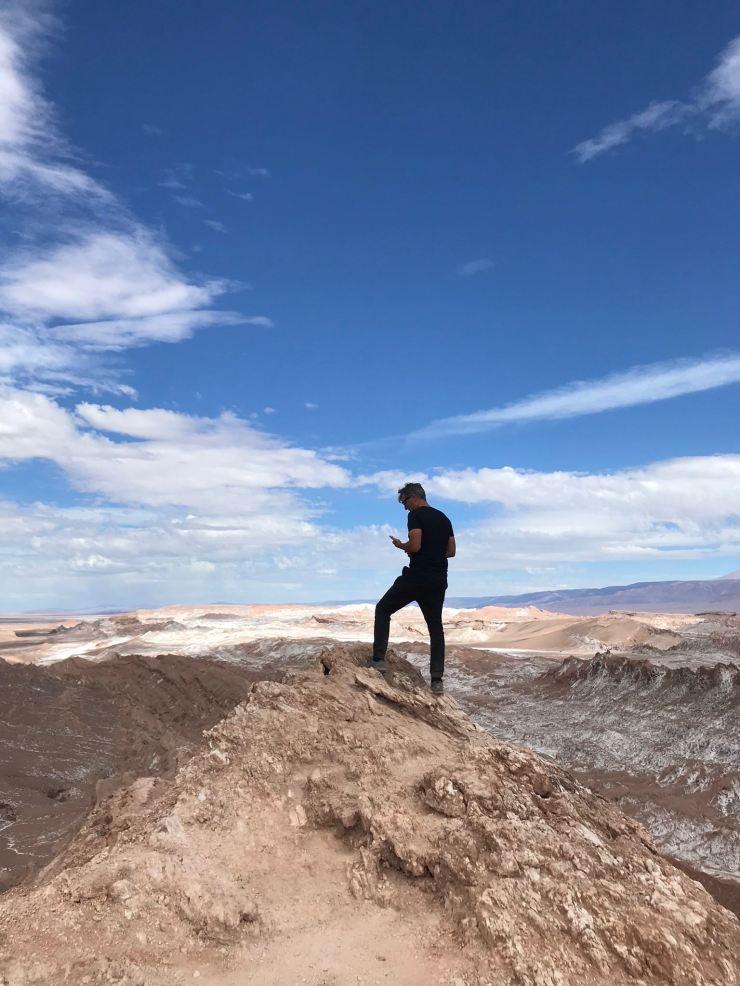 Geoffrey au Mirador Achache - Vallée de la Lune - Désert d'Atacama - Chili