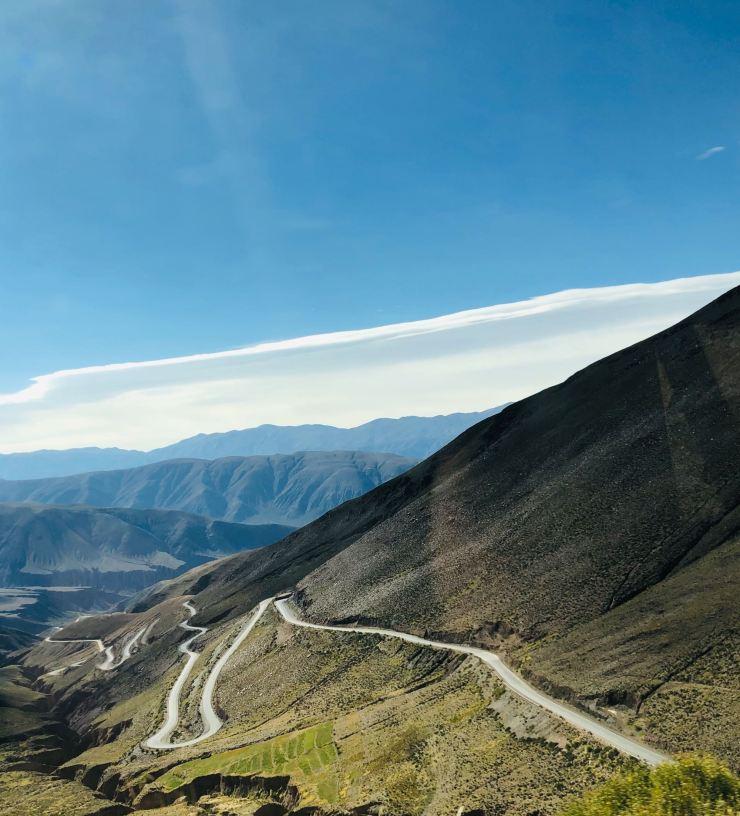 Route vers le Col de Petrorillos - Région de Purmamarca - Argentine