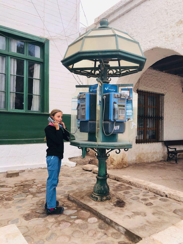 Vieille cabine téléphonique - San Pedro de Atacama - Chili