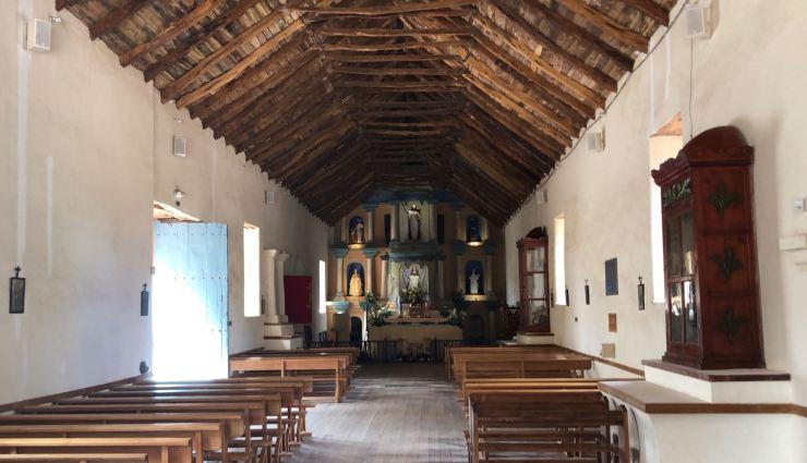 Dans l'église - San Pedro de Atacama - Chili