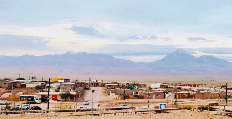 Vue sur San Pedro de Atacama et la Cordillère des Andes - Chili