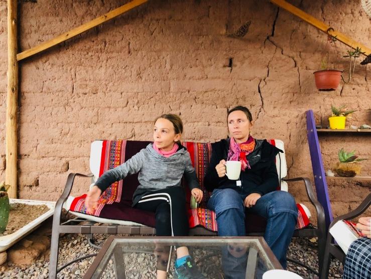 Petit thé sur la terrasse - San Pedro de Atacama - Chili