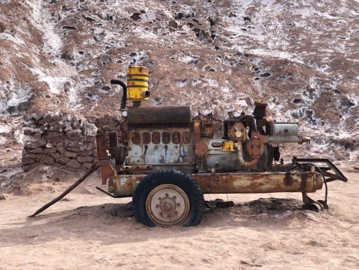 Engin des mines de Sel - Vallée de la Lune - Désert d'Atacama - Chili