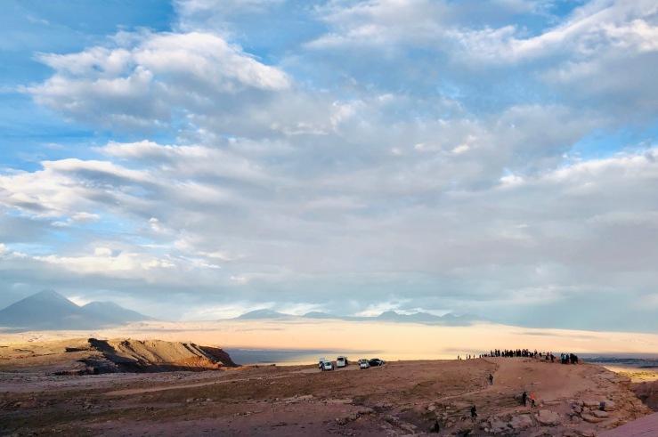 Fin du Jour au mirador El Coyote - Vallée de la lune - Désert d'Atacama - Chili