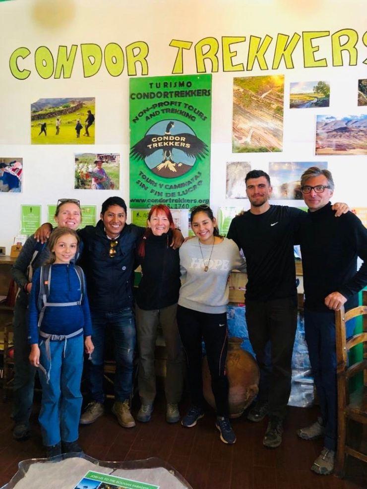 Notre équipe pour le trek - Condor Trekkers - Sucre - Bolivie
