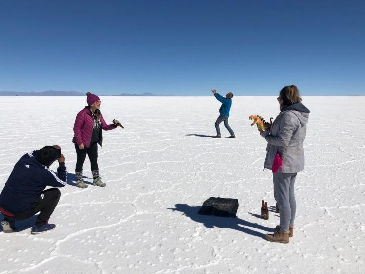 L'envers du décor - Jeux de perspective - Salar d'Uyuni - Bolivie