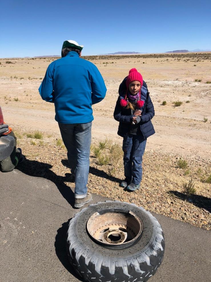 C'es la jante ! - Vers Uyuni - Bolivie