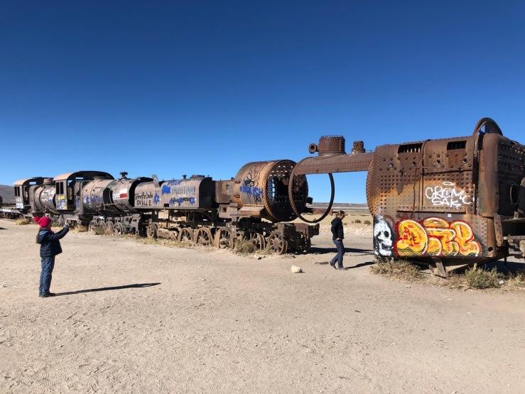 Cimetière de trains - Uyuni - Bolivie