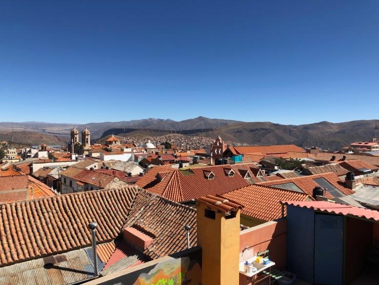 Vue depuis notre hôtel : les toits de Potosi - Bolivie