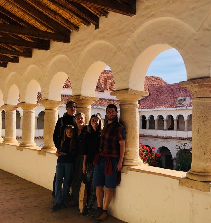 Avec Alisson et Adrien - Cloître du Couvent de Santa Clara - Sucre - Bolivie