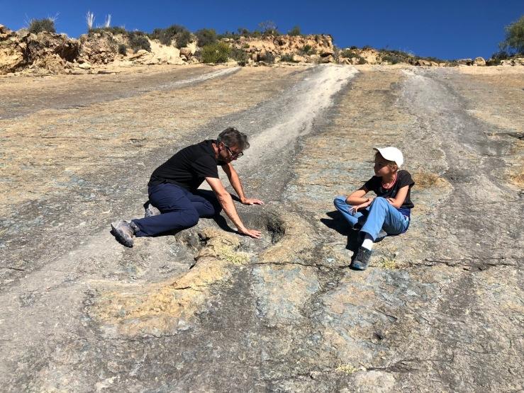 C'est grand les empreintes de dinos ! - Région de Sucre - Bolivie