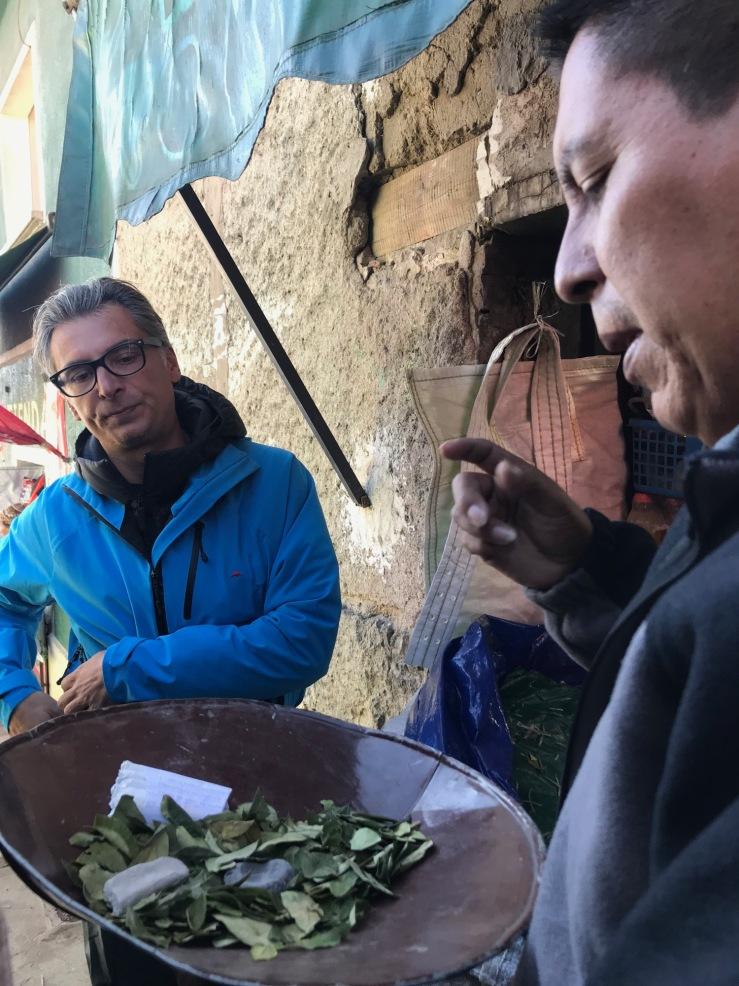Feuilles de Coca - Marché des mineurs - Potosi - Bolivie