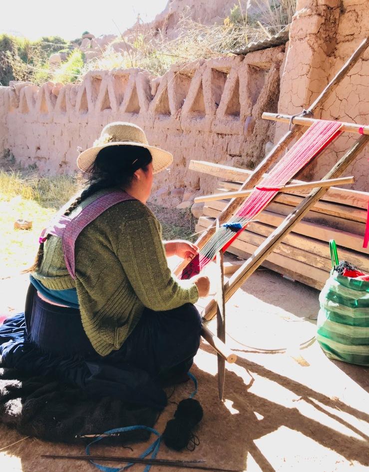 Tisserande Jalq'A - Potolo - Region de Sucre - Bolivie