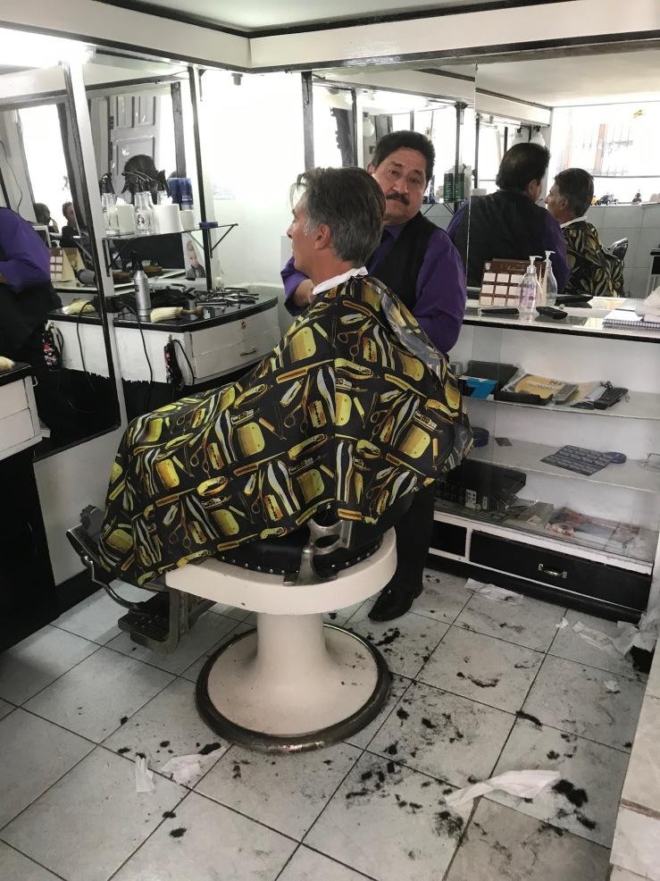 Chez le coiffeur - Sucre - Bolivie